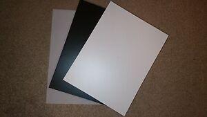 Plasticard / Styrene Black White Clear 10 20 30 40 60 80 Thou 0.25mm - 2.0mm A4+