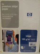 Genuine HP Premium Inkjet Paper A3 X 100 sheets 297x420mm 100gsm Q1937A