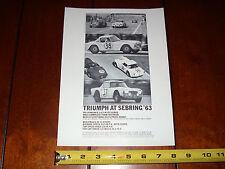 1963 TRIUMPH TR-4 AT SEBRING - ORIGINAL VINTAGE AD