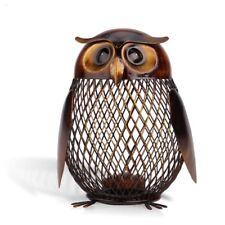 "6"" x 4"" Bank Owl Figurine Money Box Metal Coin Saving Box Home American Decor"