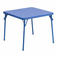 Kids Blue Folding Upholstered Card Game Table [JB-TABLE-GG]