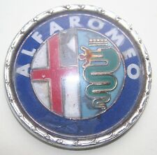 Vintage Plastic Alloy Alfa Romeo Car Badge Signed Bomisa Milan on reverse 54mm