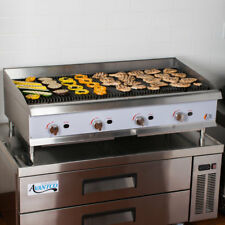 48 Natural Gas Lava Rock Commercial Restaurant Kitchen Countertop Charbroiler