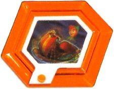 Disney Infinity 1.0 Rare Orange Holographic Captain Hook's Ship Power Disc
