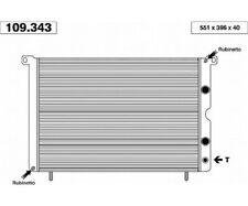 Wasserkühler Kühler FIAT 131 Diesel 78- AHE  109.343