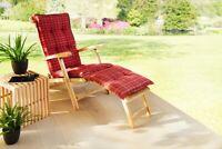 Solax-Sunshine Deckchair Auflage Bordeaux Sonnenliege Polsterauflage Liege