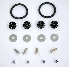 New Black Aluminum Quick Release Fasteners Kit For Bumper&Trunk Hatch Car/Truck