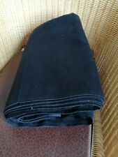 Pour création de vêtements anciens COUPON NEUF NOIR BIAUDE  VESTE   125 cm X 11m