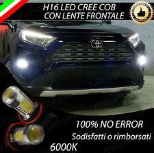 COPPIA LAMPADE FENDINEBBIA H16 LED CREE COB CANBUS PER TOYOTA RAV-4 MK5 V 6000K