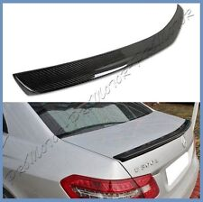 Carbon Fiber 10-16 M BENZ W212 Sedan E350 E550 E63 A Type Trunk Spoiler Wing Lip
