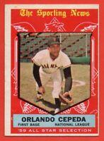 1959 Topps #553 Orlando Cepeda EX+ WRINKLE San Francisco Giants HOF FREE SHIP