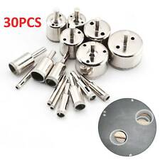 30pc Diamond Holesaw Cutter Set 6-50mm For Tiles Marble Glass Saw Drill Bit Tool