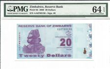 Zimbabwe, 20 Dollars, 2009, P-95, Uncirculated PMG 64 EPQ