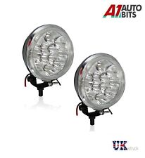 2x Universal Car Van Bus Front LED Lights 12V Spot Fog Halogen Round Lamps Boxed