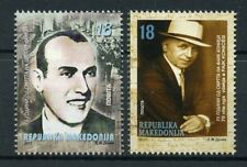 Macedonia 2017 MNH Cvetan Dimov Faik Konica 75th Memorial 2v Set Writers Stamps