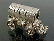 Vintage Sterling Silver Opening FRONTIER COVEReD WAGON with Furniture Charm