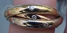 14K TRI COLOR GOLD DIAMOND ROLLING RING  CUSTOM MADE SIZES  by Legacy Designs