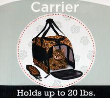 "17"" PORTABLE BERGAN COMFORT CARRIER PET DOG & CAT SOFT TOTE -Leopard"