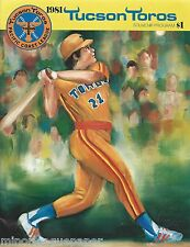 1981 Tucson Toros Minor League Baseball Program - Pacific Coast League #FWIL