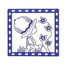1070:  Machine Embroidery Designs - Sunbonnet Sammy - Redwork