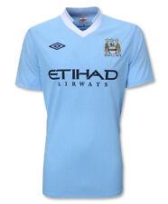 "MANCHESTER CITY 48"" BLUE/WHITE 2011/12 UMBRO S/S SOCCER FOOTBALL SHIRT JERSEY"