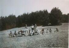 § FASCISMO - Lotto di 9 foto GUF TARANTO  in campeggio sulla Sila - anni '30