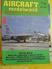 AIRCRAFT MODELWORLD DECEMBER 1985 BLACKBURN FIREBRAND GRUMMAN WIDGEON LIGHTNING