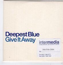 (FJ404) Deepest Blue, Give It Away - 2004 DJ CD
