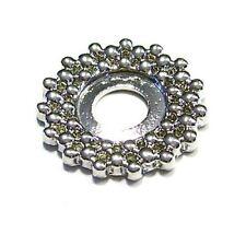 Mooduli Ring Scheibe Silberfarben rund Wechselring Platte  Metall  M-601001
