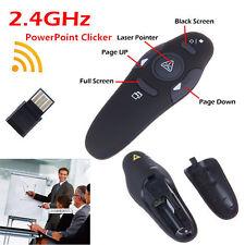 2,4 GHz USB inalámbrico de PPT Presentador Pen remoto puntero láser de control