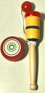NEW Traditional Wooden Yoyo,Cup + Ball stocking filler,toy,game,set,bundle.Yo Yo