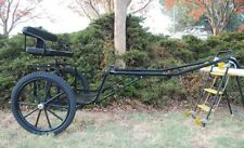 "Ez Entry Horse Cart-Pony&Full Size w/Steel ""C"" Springs w/Curved Shafts 23"" Tires"
