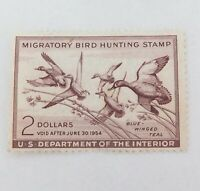 .SCARCE 1953 SCOTTS # RW20 US FEDERAL DUCK STAMP, MNH NOT SIGNED, VG / F