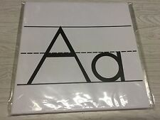 26 Classroom Alphabet  Cards  - ABC Handwriting - B/W Class Decor   8.5X8.5