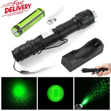 900Miles 532nm Green Laser Pointer Pen Beam Battery + Usb Charger Us Stock New