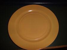 "Vintage Hazel Atlas Ovide Platonite Butterscotch Dinner Plate - 9"""