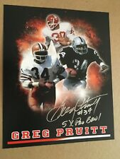 GREG PRUITT AUTOGRAPHED 8 X 10 COLLAGE PHOTO  5 X PRO BOWL