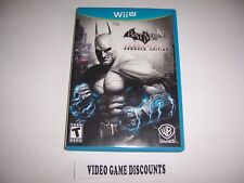 Original Box Case for Nintendo Wiiu Wii U Batman Arkham City