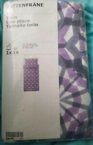 "IKEA Vattenfrane Twin Duvet Cover Set Pillowcase Lavender Purple""Lilac""Flower NW"