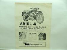 1956 BSA Ariel 4 Square Four Motorcycle Brochure B737