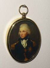Portrait Miniature of Horatio Nelson in an oval brass frame.