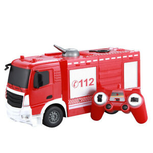1:26 Battery Powered Remote Control Fire Engine Engineering Car Toy for Kids