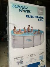 """Ship Today Summer Waves Elite 14'x42"""" Frame Pool with Filter Pump System"""