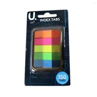 Pack of 150 Sticky Highlighter Index Tabs Neon Page Marker Adhesive Bookmark