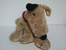 Jellycat brown & black spot puppy dog - red collar - J166 rare