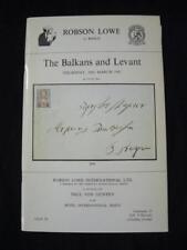 Robson Lowe subasta catálogo 1981 Balcanes y Levant