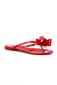 Valentino Garavani Womens Thong Bow Slide On Sandals Red Size 39 9