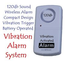 E49 Wireless & Compact 120db Anti-Theft Security Alarm Vibration Activated Siren