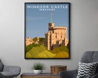 Windsor Castle Berkshire Vintage Travel Poster Art Print