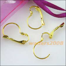 20 New Gold Dull Silver Bronze Plated Pear French Earring Hooks 13x19mm